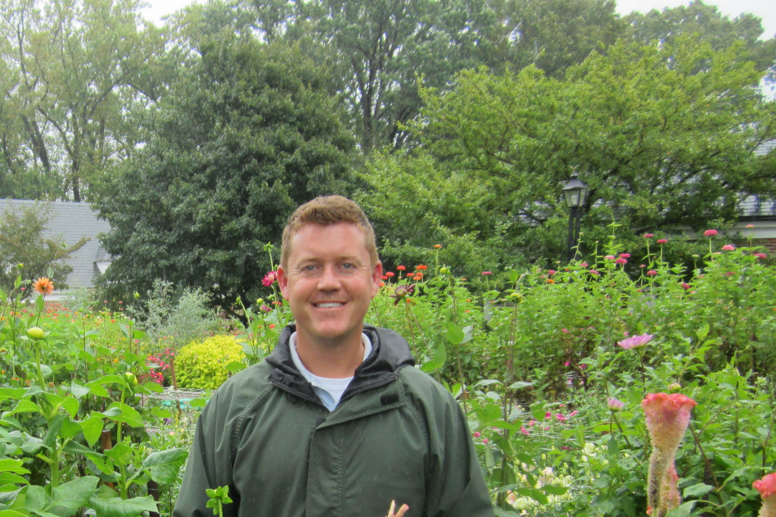 Drew Asbury in the Cutting Garden at Hillwood