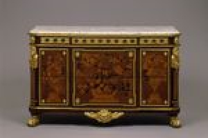 COMMODE (CHEST OF DRAWERS) WITH FLORAL MARQUETRY