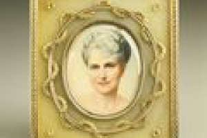 FRAME WITH MINIATURE OF MARJORIE MERRIWEATHER POST