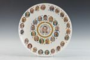 PLATE WITH IMAGES OF THE PRESIDENTS OF THE UNITED STATES, ONE OF 10