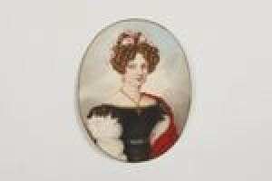 Baroness Franziska von Gise, née Bertrand de St. Remy de la Perouse, from the Middleton Watercolor Album