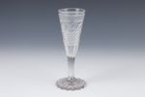 CHAMPAGNE FLUTE FROM THE COUNTRY SERVICE (ONE OF 11)
