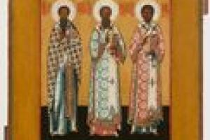 ST. BASIL THE GREAT, ST. GREGORY BOGOSLOV, AND ST. JOHN CHRYSOSTUM