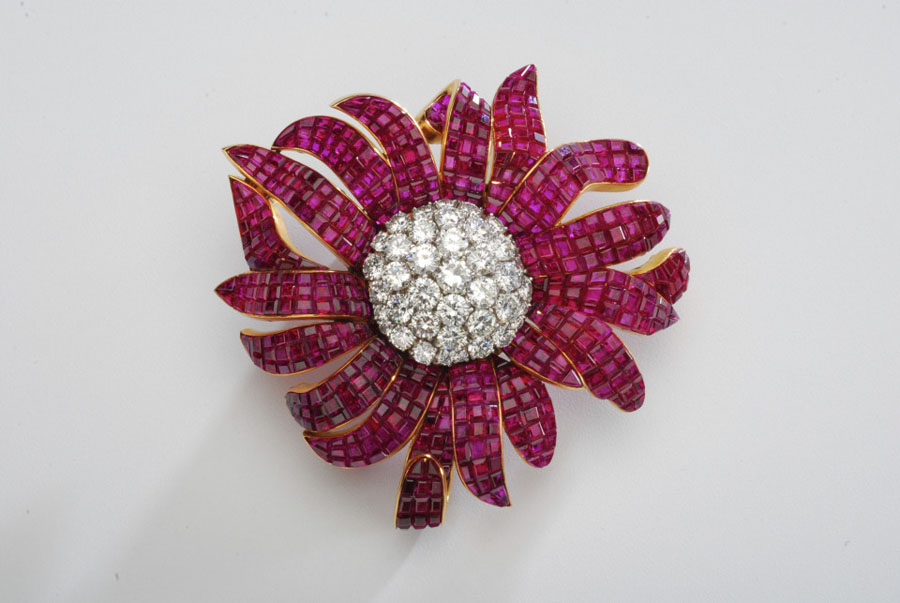 Van Cleef & Arpels brooch, from the Merriweather Post Collection at Hillwood Estate, Museum & Gardens in Washington, D.C.