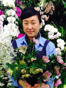 Photo of Ami Wilber, floral designer at Hillwood Estate, Museum & Gardens