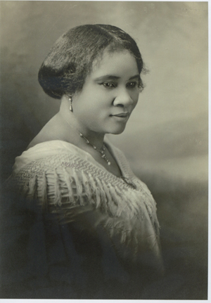 Portrait of Madam C.J. Walker. Photo courtesy of the Madam Walker Family Archives
